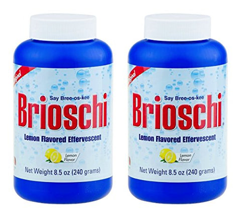 Brioschi Effervescent 8.5oz (2 Bottles) The Original Lemon Flavored Italian Effervescent - 2 Bottles