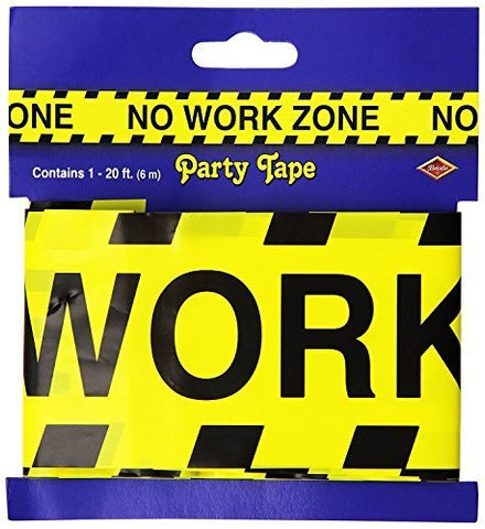 No Work Zone Party Tape Party Accessory (1/Pkg)