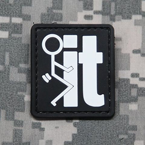 Neo Tactical Gear Fuck It Pvc Morale Patch - Rubber Morale Patch, Hook Backed