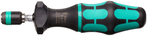 "Wera 05074700001 Kraftform 7440 Hexagon Torque Screwdriver, 1/4"" Head, 0.3-1.2 Nm Variable Torque Adjustment Range"