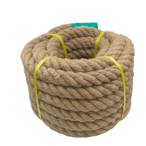 Aoneky Jute Rope - 1.18/1.5 Inch Twisted Hemp Rope For Crafts, Climbing, Anchor, Hammock, Nautical, Cat Scratching Post, Tug Of War, Decorate (1 1/2 Inch X 50 Feet)