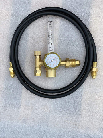 Argon Regulator Tig Welder Mig Welding Co2 Flowmeter 10 To 60 Cfh - 0 To 4000 Psi Pressure Gauge Cga580 Inlet Connection Gas Welder Welding Regulator More Accurate Gas Metering For Gas Delivery System