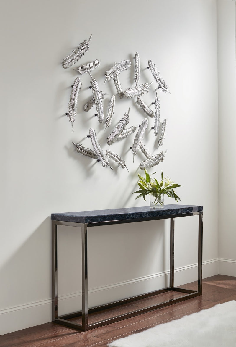 Silver Feather Wall Sculpture (Set of 2)
