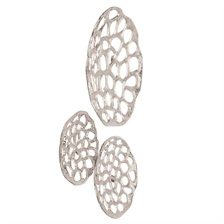 Nickel Plated Open Work Honeycomb Wall Art