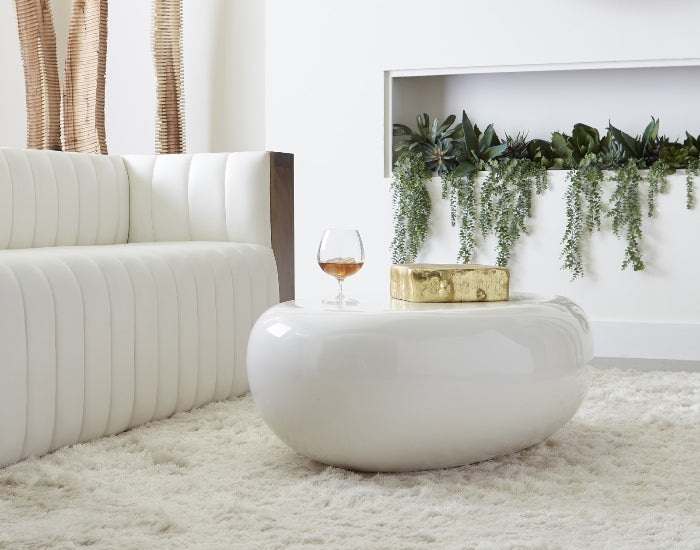 River Rock Coffee Table (Gel White)