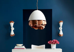 Shuffle Wall Sconce Light (White/Copper)