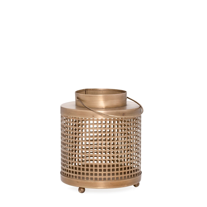 Lois Hurricane Lantern (Antique Brass) Set of 2