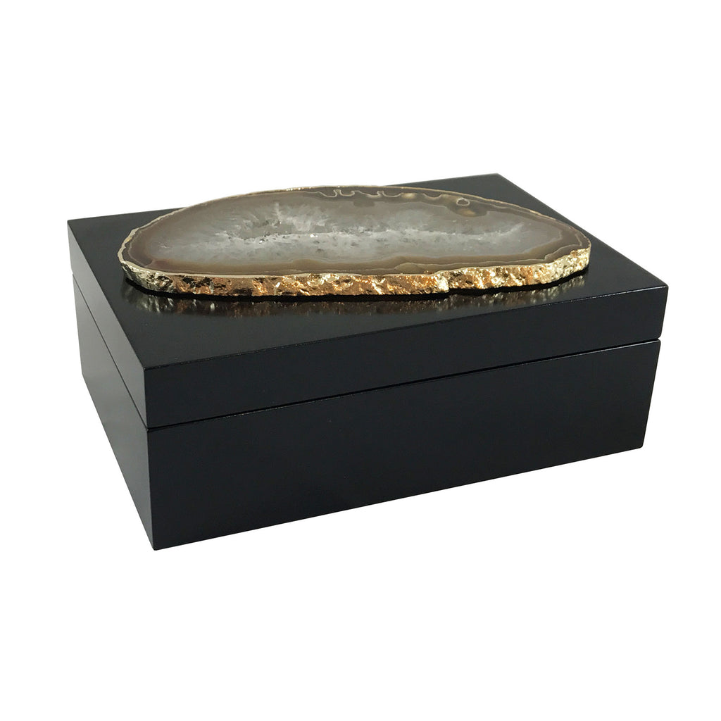 Anika Large Agate Box - Luxury Living Collection
