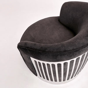 Colins Black Swivel Accent Chair