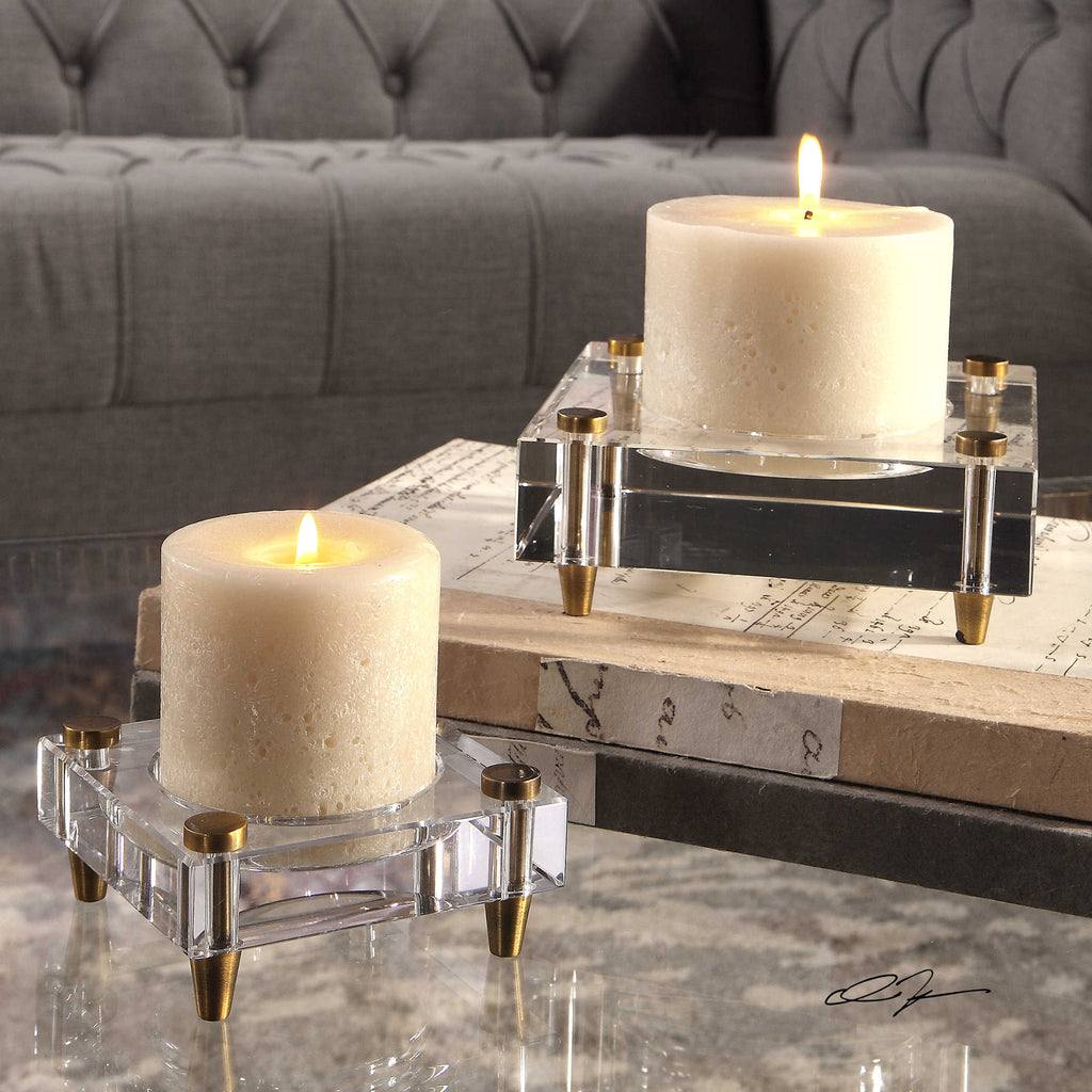 Charwi Candleholders, Set of 2