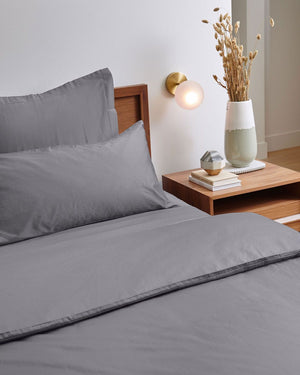 Luxury Organic Duvet Cover - Charcoal Grey