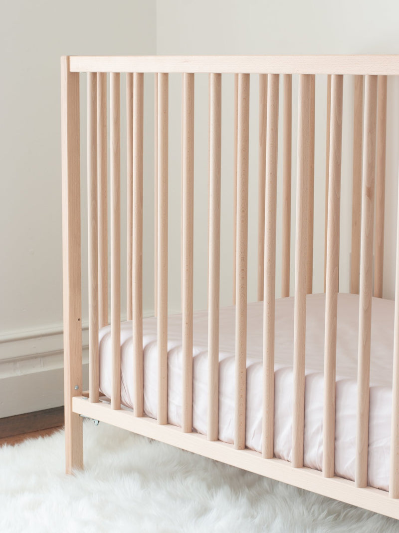 Luxury Organic Crib Sheet - Blush