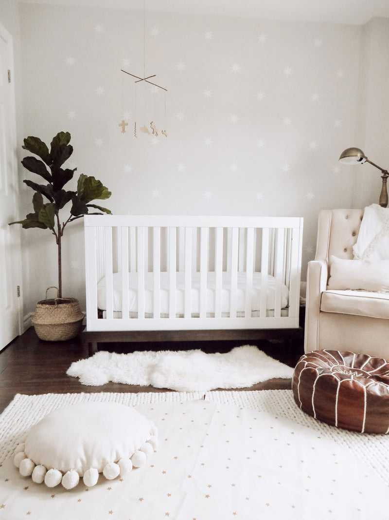 Luxury Organic Crib Sheet - Snow