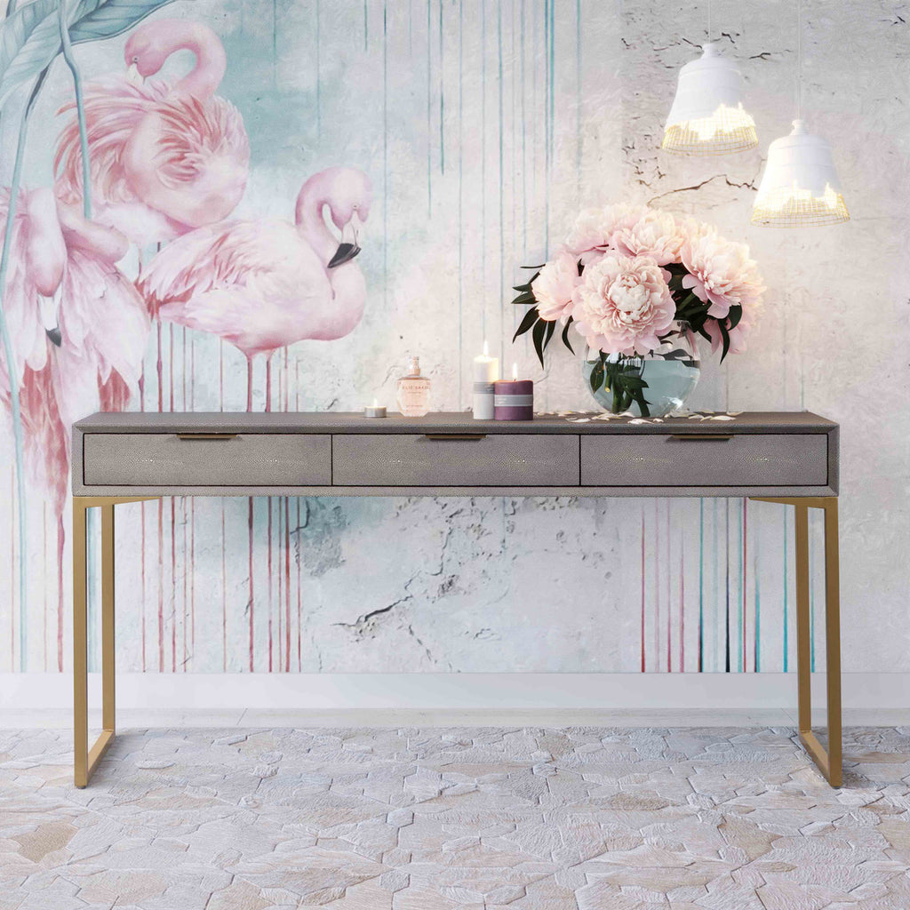 Donatella Shagreen Console/Desk - Luxury Living Collection