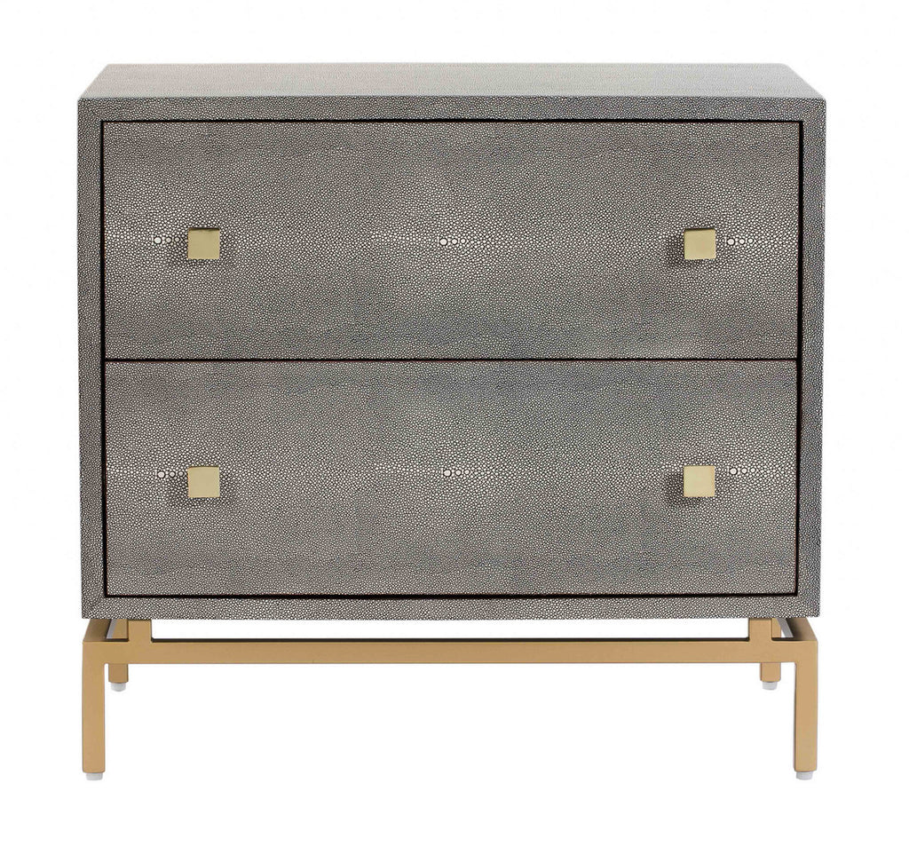 Darejan Shagreen Nightstand - Luxury Living Collection