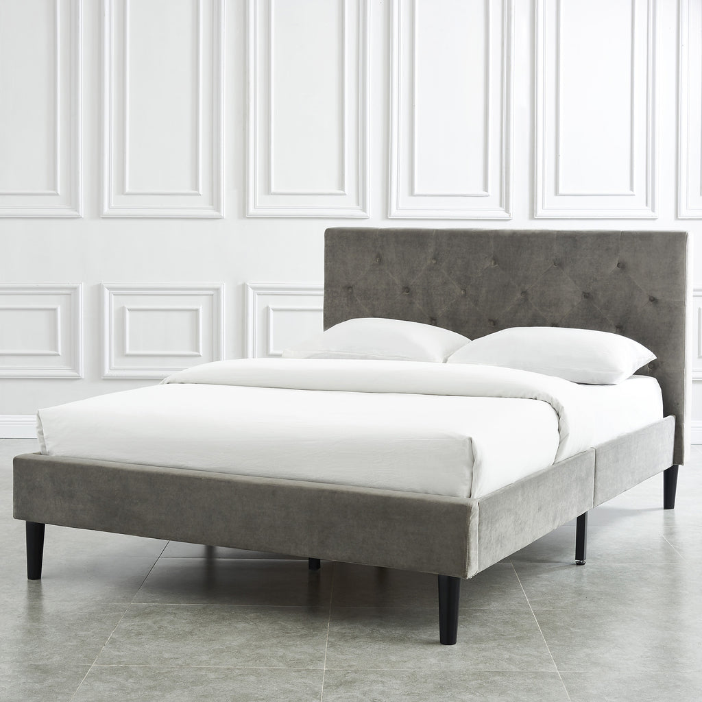 Elianna Platform Bed Grey