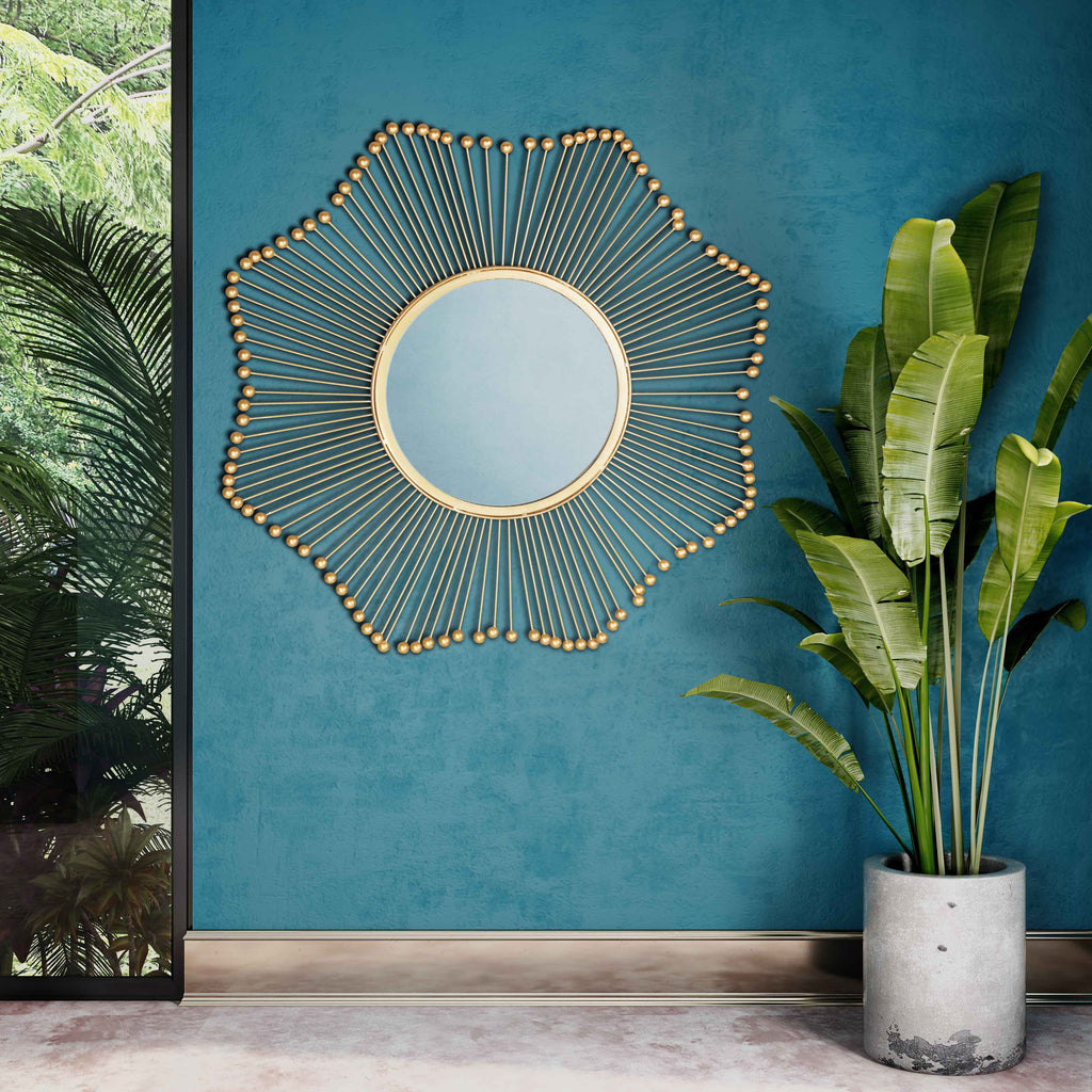 Franny Gold Mirror - Luxury Living Collection