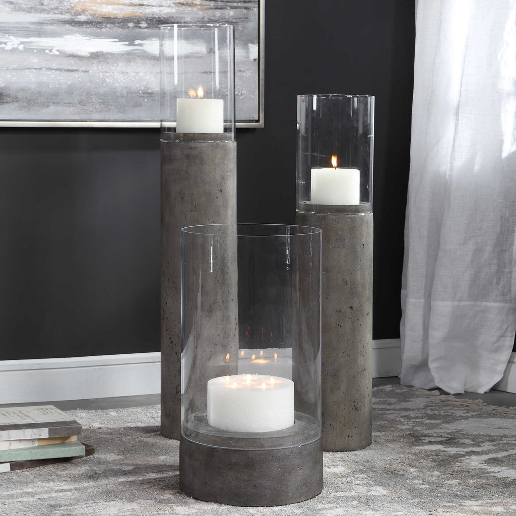 Fazaid Tall Hurricane Candleholder, Outdoor
