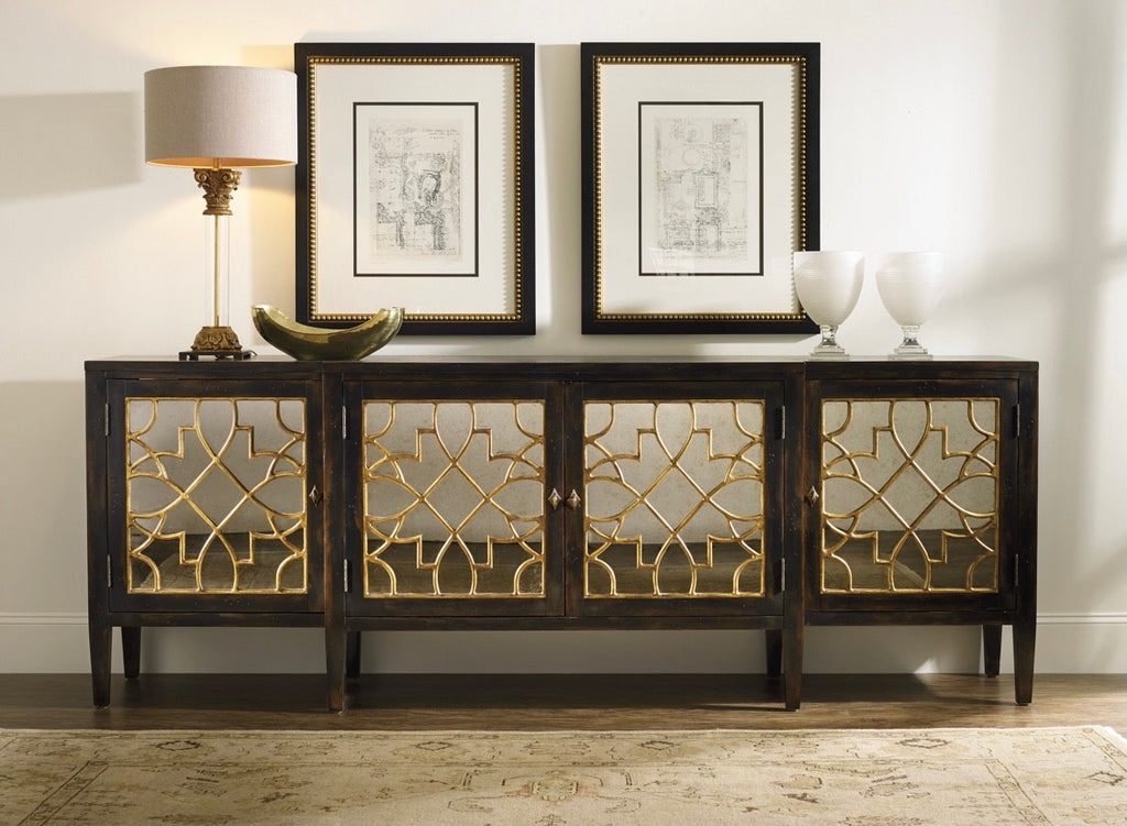 Halle Four-Door Mirrored Console
