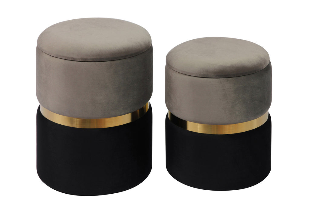 Lia Storage Ottomans - Set of 2 - Luxury Living Collections