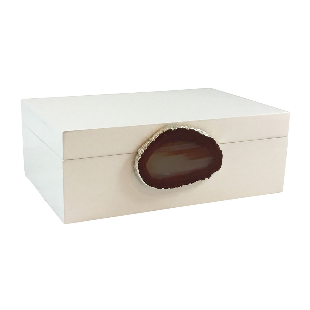 Marina Large Agate Box - Luxury Living Collection