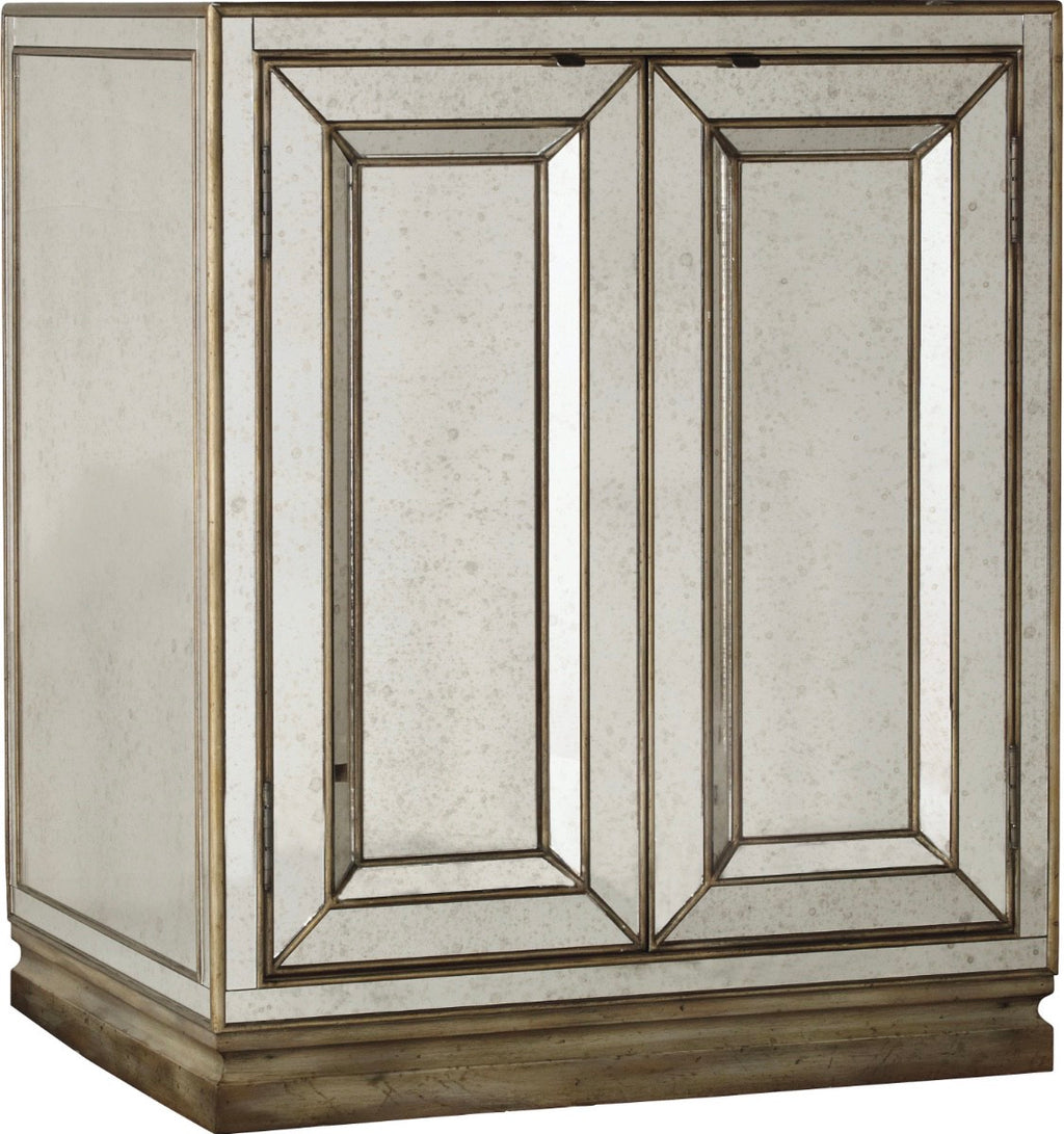 Marissa Two-Door Mirrored Nightstand