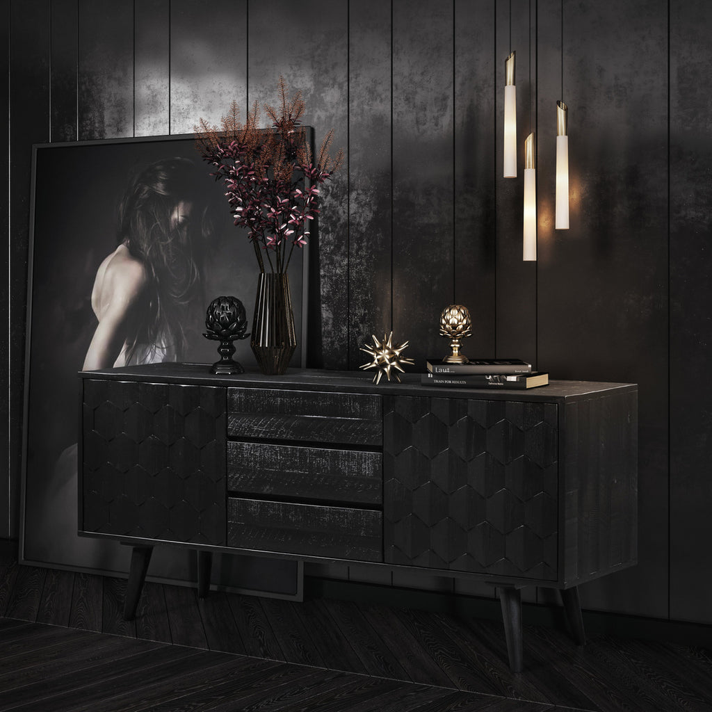 Philip Black Buffet- Luxury Living Collection