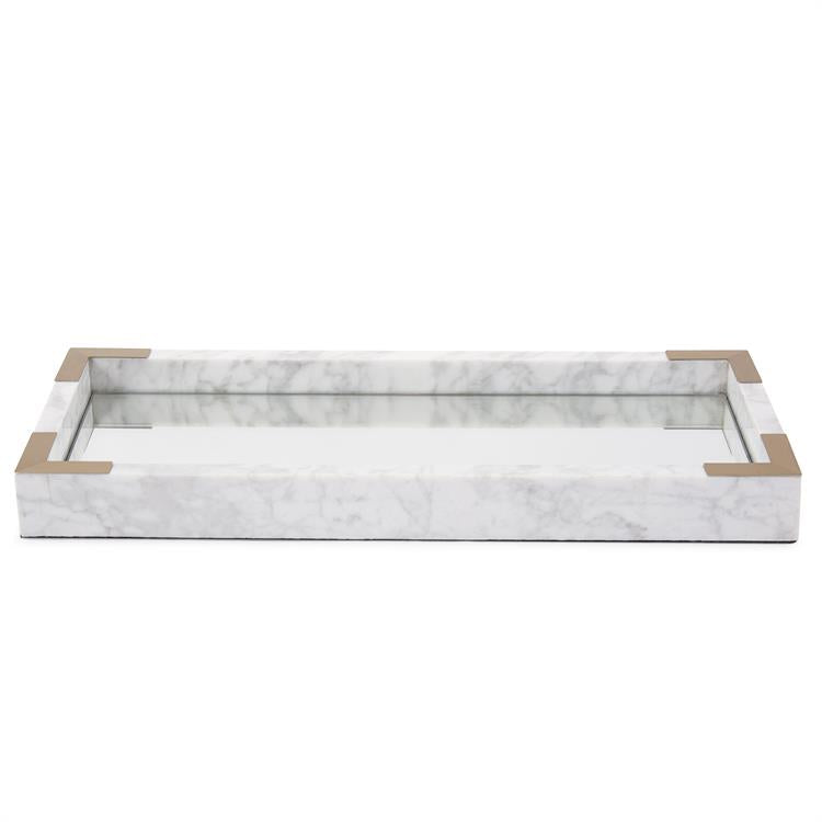Reina Mirrored Marble Tray