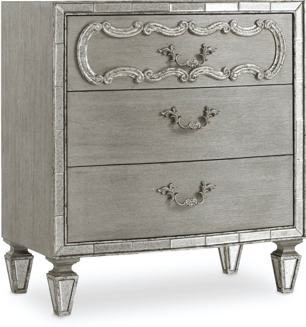 Dulce Three-Drawer Nightstand