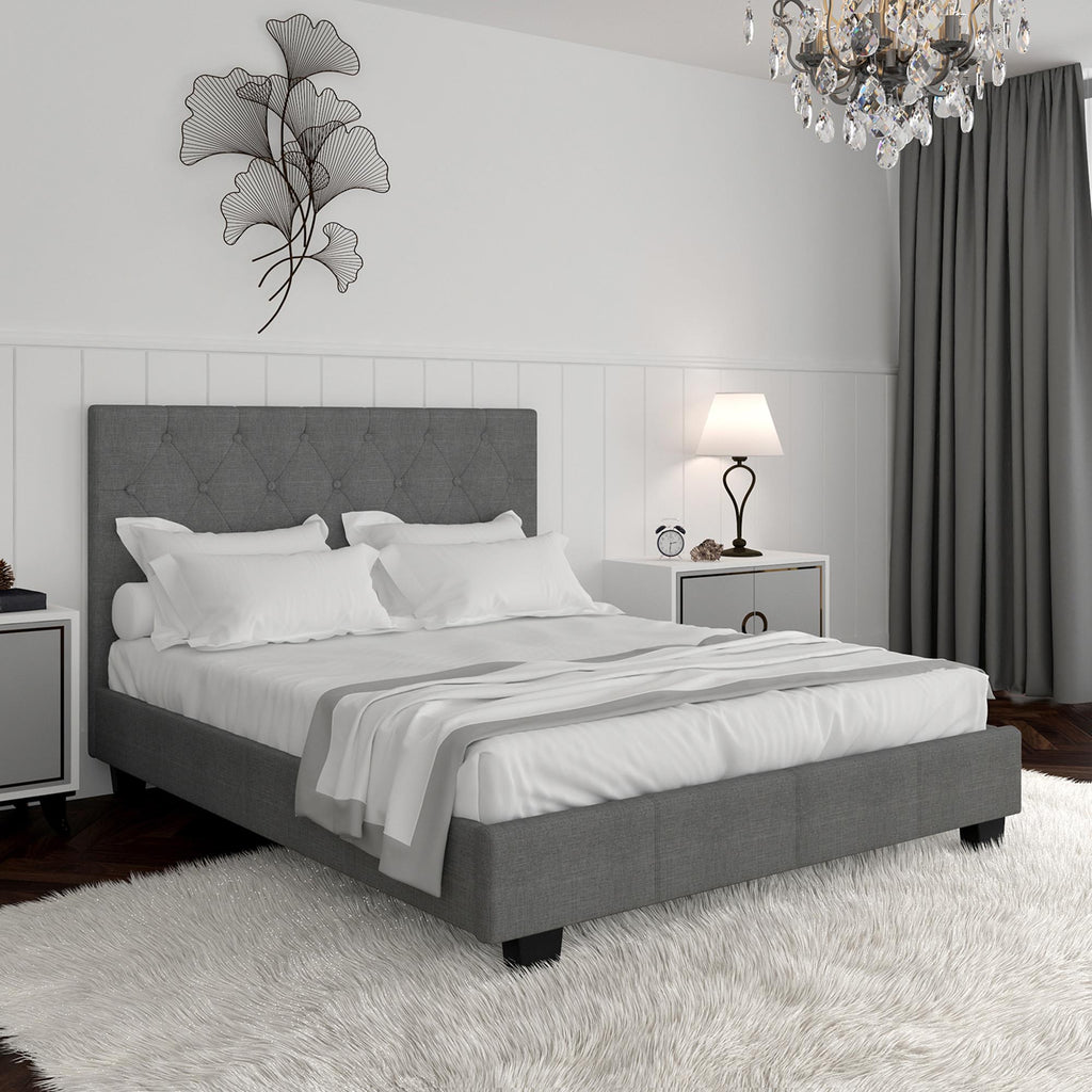 Shiloh Platform Bed Grey
