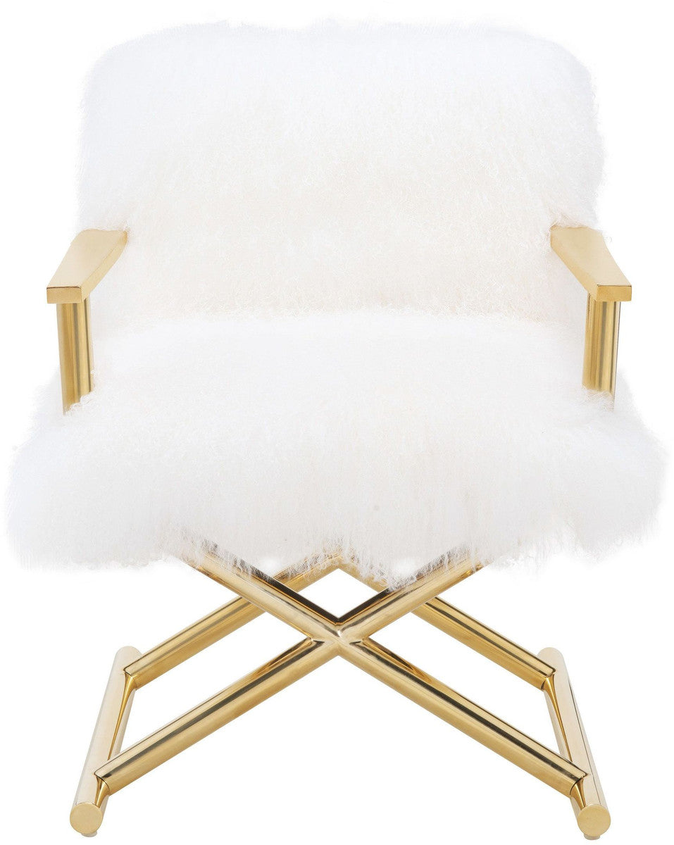 Valor White Sheepskin Chair - Luxury Living Collection