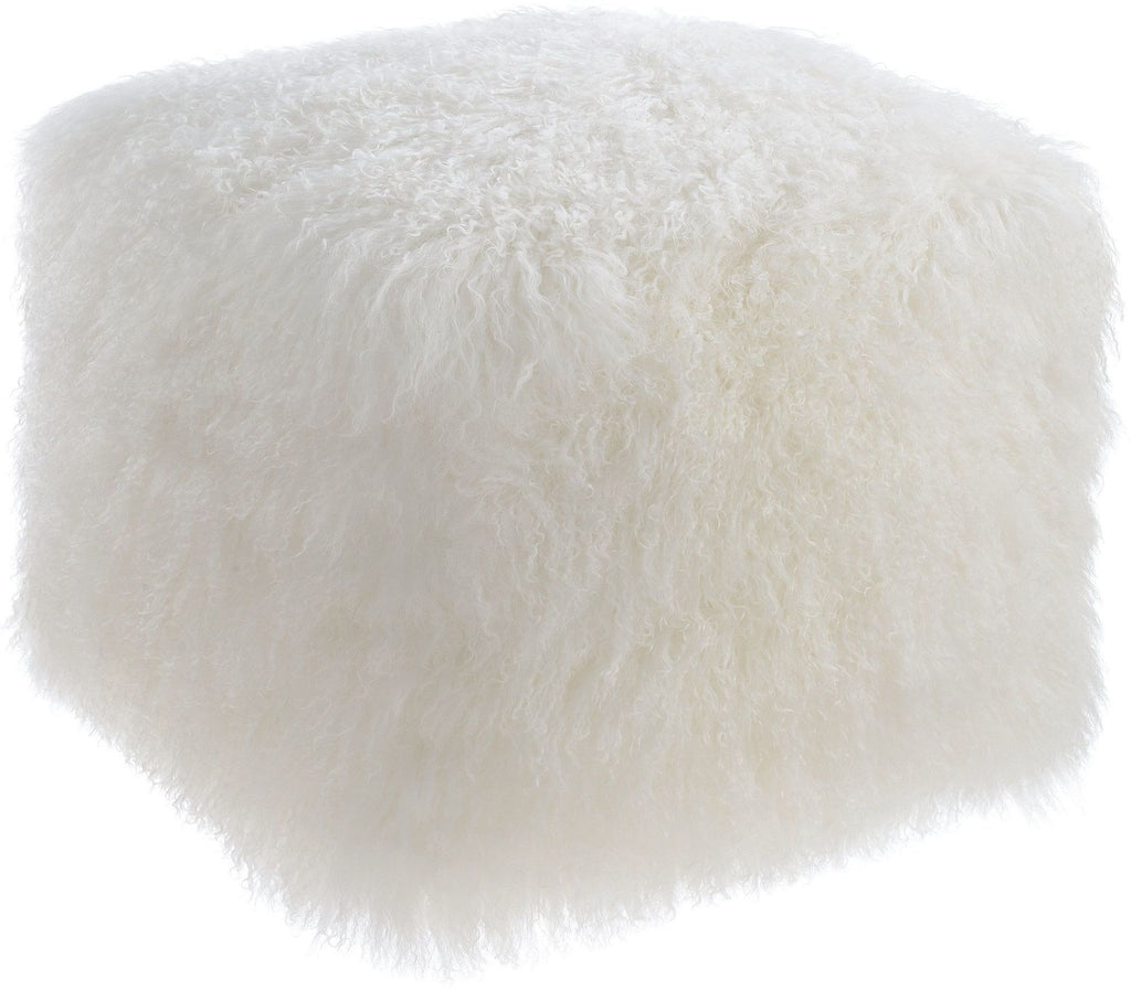 January Sheep Fur Pouf - Luxury Living Collection