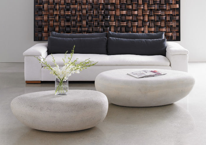 River Rock Coffee Table (White)