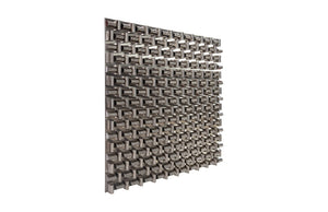 Aire Square Stainless Steel Pattern Wall Sculpture