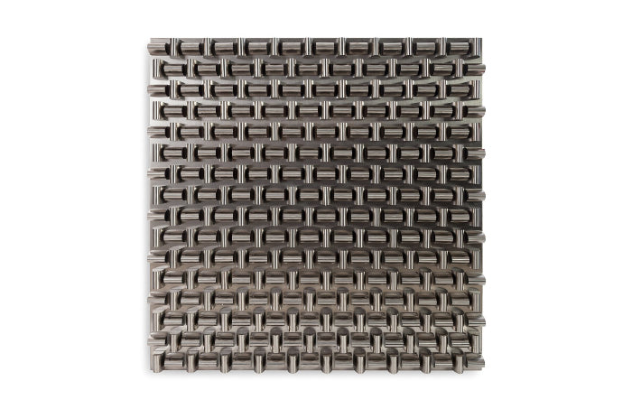 Aire Pattern Wall Sculpture (Stainless Steel/Square)
