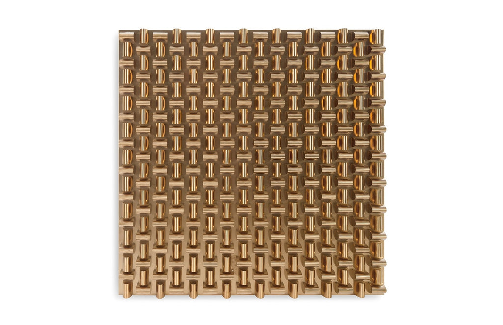 Aire Pattern Wall Sculpture (Brass/Square)