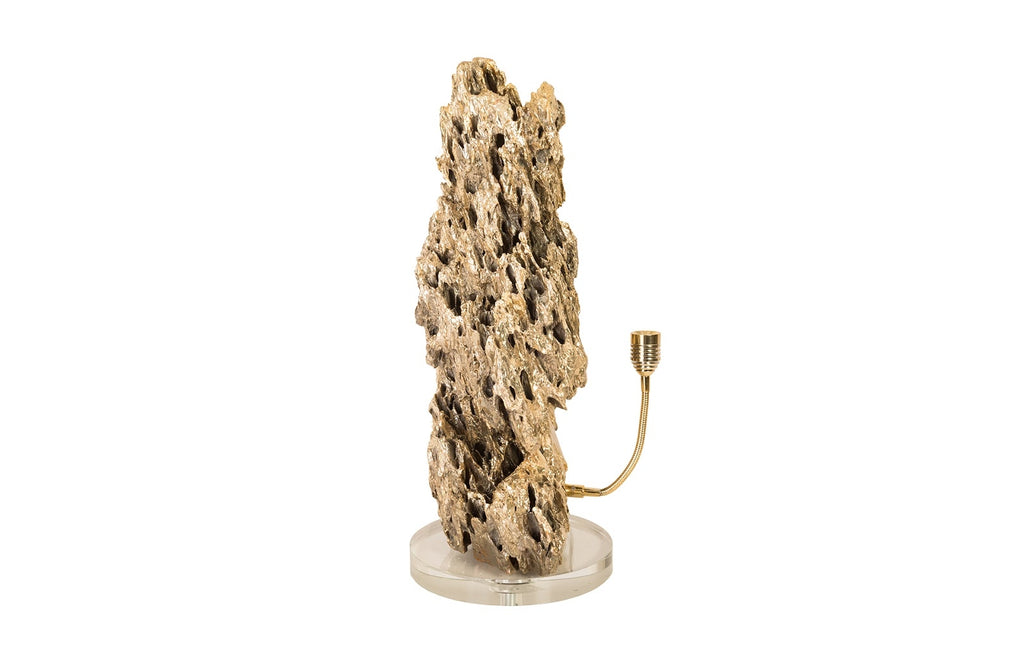Plaza Brass Polished Lamp (Stalagmite)