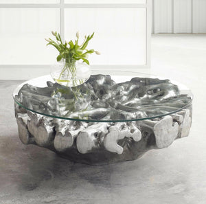 Glowa Root Coffee Table (Silver Leaf)