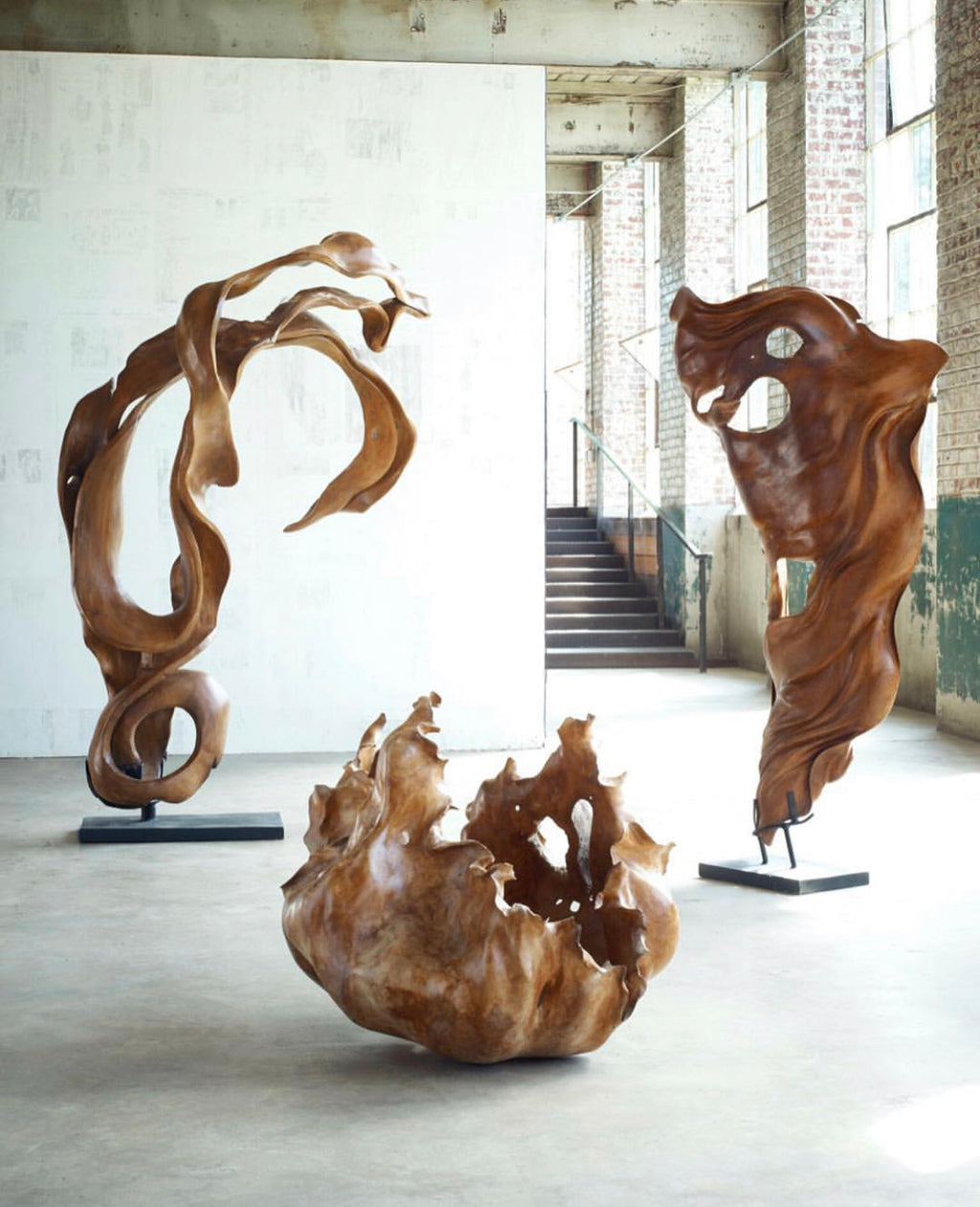 Cast Root Tree Floor Sculpture