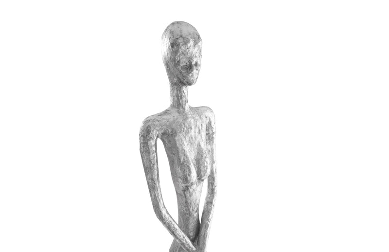 Thin Female Silver Leaf Sculpture
