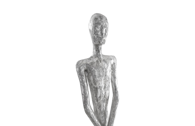 Thin Male Silver Leaf Sculpture