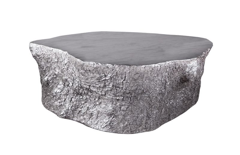 Wyna Wood Coffee Table (Silver Leaf)