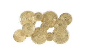 Gold Leaf Cloudy Wall Sculpture