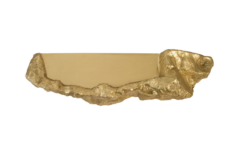 Boulder Wall Sculpture (Gold Leaf)