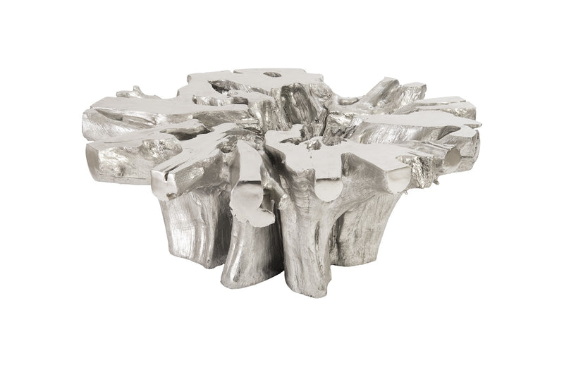 Live Coffee Table (Silver Leaf) II