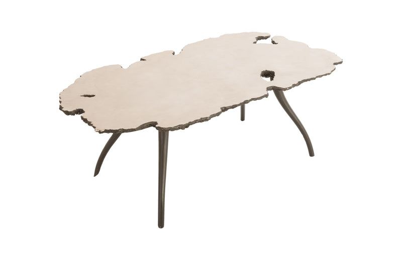 Reflection Coffee Table with Iron Legs