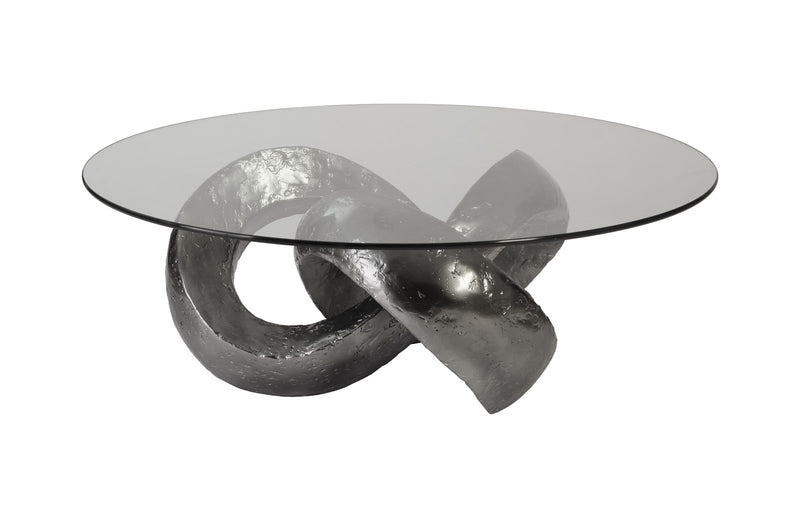 Infinity Coffee Table (Liquid Silver)
