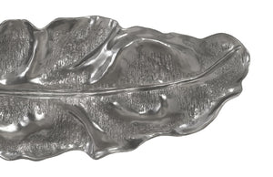 Liquid Silver Petiole Leaf Wall Sculpture (Colossal) I