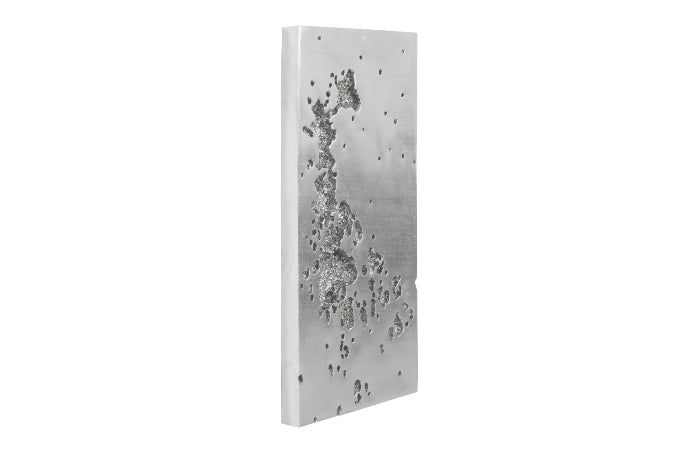 Silver Splatter Wall Sculpture II