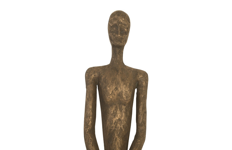 Thin Male Bronze Wall Sculpture